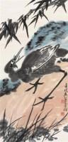 竹鹭图 立轴 设色纸本 - 139807 - 中国书画 - 2006秋季拍卖会 -收藏网