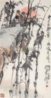 群猴图 立轴 设色纸本 - 徐培晨 - 中国当代书画 - 2006秋季艺术品拍卖会 -收藏网