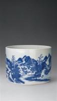 清康熙 青花山水笔海 -  - 中国瓷器杂项 - 2006秋季文物艺术品展销会 -收藏网