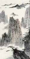 黄山松云 镜片 设色纸本 - 2538 - 近现代中国书画 - 2011秋季艺术品拍卖会 -收藏网