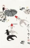 金鱼 立轴 设色纸本 - 116163 - 中国书画专场 - 迎新春书画精品拍卖会 -中国收藏网