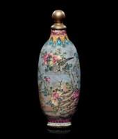 琺瑯彩绘花鸟图鼻烟壶 -  - 中国瓷器工艺品 - 2009秋季拍卖会(一) -收藏网