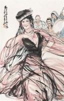 新疆舞 立轴 纸本 - 7693 - 中国书画 - 2011春季艺术品拍卖会 -收藏网