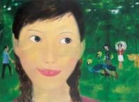 微笑 布面 油画 - 章剑 - 中国当代艺术 - 2006秋季拍卖会 -收藏网