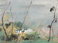 苏天赐 1992年作 春雨菲菲 布面油画 - 132410 - 中国传统油画 - 2006秋季艺术品拍卖会 -中国收藏网