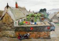海边人家 布面油画 - 52452 - 当代名家油画 - 澄怀万象——2011秋季艺术品拍卖会 -收藏网