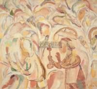 烛光 布面油彩 - 尚扬 - 中国油画及雕塑 - 2006年春季拍卖会 -收藏网