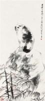 猫石图 立轴 设色纸本 - 任伯年 - 中国书画一 - 2011秋季艺术品拍卖会 -收藏网