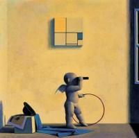 为了M的黄和蓝 布面 油画 - 刘野 - 中国当代艺术 - 2006秋季拍卖会 -收藏网