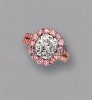 钻石配粉红钻石戒指 -  - 珠宝翡翠 - 2010年春季拍卖会 -收藏网