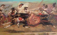 王可伟 马球 油画 - 王可伟 - 油画专场 - 2006首届艺术品拍卖会 -收藏网