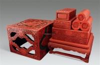 雕漆剔红套盒 (六件套) -  - 秀美雕漆---雕漆工艺大师作品专场 - 大师荟萃 异彩纷呈—当代传统工艺大师优秀作品拍卖会 -中国收藏网
