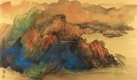 千霞万彩看终南 镜框 - 140166 - 中国书画(二) - 2011秋季书画拍卖会 -收藏网