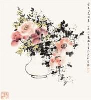 花卉 立轴 设色纸本 - 4387 - 中国书画 - 2010年春季拍卖会 -收藏网
