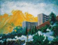 远眺 布面 油画 - 73734 - 名家西画 当代艺术专场 - 2008年春季拍卖会 -中国收藏网