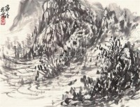 山居小品 镜片 - 崔振宽 - 中国书画 - 2011年春季艺术品拍卖会 -中国收藏网
