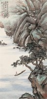山水 立轴 设色纸本 - 4991 - 中国名家书画(一) - 2005年夏季艺术品拍卖会 -收藏网