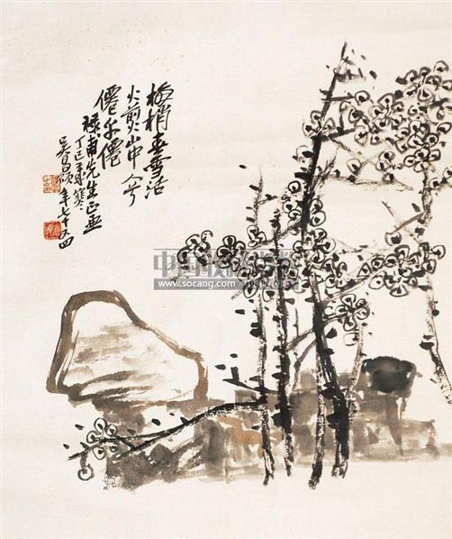 梅花 镜片 纸本 - 116056 - 老油画·中国书画·新钢笔画 - 2011春季图片