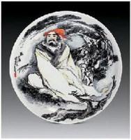 """""""听松图""""瓷盘 - 64867 - 中国当代名家陶瓷 - 2007秋季拍卖会 -收藏网"""