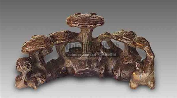 竹根雕灵芝纹笔山 -  - 艺术珍玩 - 十周年庆典拍卖会 -收藏网