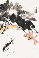 荷塘鳜鱼图 镜心 设色纸本 - 116019 - 中国书画一 - 2011首届大型书画精品拍卖会 -收藏网