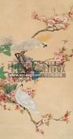 鹦鹉桃花 立轴 设色纸本 - 124213 - 中国书画 瓷器工艺品 - 2007迎新艺术品拍卖会 -收藏网