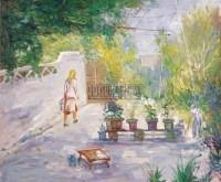 王流秋 新疆小景 布面油画 - 4279 - 中国油画 - 2006秋季艺术品拍卖会 -收藏网