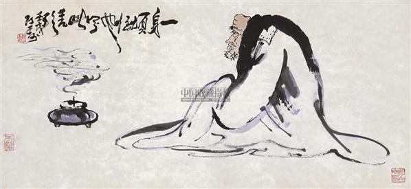 无量寿佛 设色纸本 - 116019 - 书画 - 2012新年艺术品拍卖会 -中国收藏网