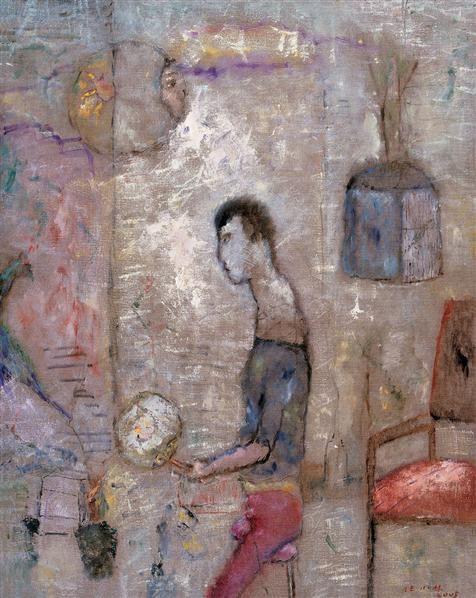 房间里 布面 油彩 - 140578 - 中国油画(一)当代专场 - 2007春季大型艺术品拍卖会 -收藏网