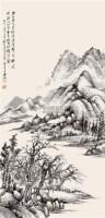 山水 立轴 纸本 - 118909 - 中国书画 - 2010迎春节书画精品拍卖会 -中国收藏网