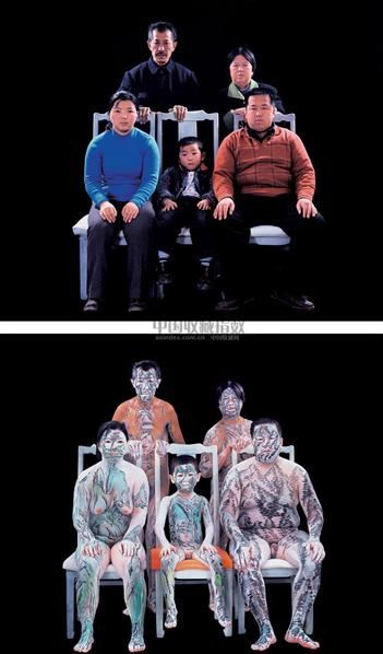 模特家庭 (二张) 照片 版数:6/15 - 35550 - 中国油画雕塑 - 2006秋季艺术品拍卖会 -收藏网
