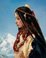 卓玛的世界 布面油画 - 张祖英 - 中国油画专场 - 2009秋季拍卖会 -收藏网