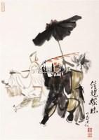 钟馗嫁妹 立轴 设色纸本 - 123069 - 海外回流书画专场(五) - 2011秋季艺术品拍卖会 -收藏网