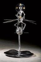 骑大蜻蜓的思维飞侠小菩萨 不锈钢 金箔 - 杨茂林 - 影像雕塑专场 - 2008春季艺术品拍卖会 -收藏网