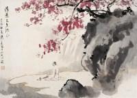 弹琴复长啸 镜心 设色纸本 - 傅二石 - 中国书画 - 2006秋季拍卖会 -收藏网