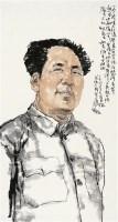 毛泽东像 镜片 - 136675 - 中国书画 - 壬辰迎春 -收藏网