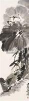 荷花鸭子 立轴 设色纸本 - 梁崎 - 当代中国书画 - 2006金秋拍卖会 -中国收藏网