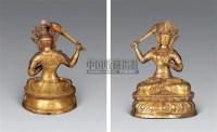 17-18世纪 铜镀金文殊菩萨像 -  - 雪域佛光 - 2007年秋季艺术品拍卖会 -收藏网