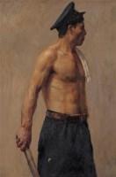 1955年 铁路工人像 布裱于木板 油画 - 李宗津 - 中国油画及雕塑 - 2006秋季拍卖会 -收藏网