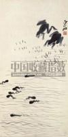 齐白石 FROG AND TADPOLE hanging scroll - 116087 - 张宗宪收藏中国书画 - 2007年秋季拍卖会 -收藏网