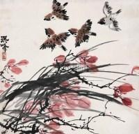 麻雀 立轴 设色纸本 - 孙奇峰 - 中国书画(一) - 2007年春季艺术品拍卖会 -收藏网