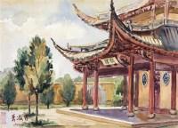 风景 镜片 设色纸本 - 4387 - 近现代中国书画 - 2011秋季艺术品拍卖会 -收藏网