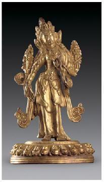 铜鎏金莲花手菩萨像 -  - 佛像唐卡 - 2007春季艺术品拍卖会 -收藏网