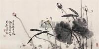 秋荷 镜心 设色纸本 - 119597 - 中国当代书画 - 2009春季拍卖会 -收藏网
