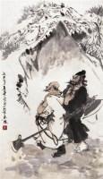 人物 立轴 设色纸本 - 13396 - 中国书画专场 - 2008第三季艺术品拍卖会 -收藏网