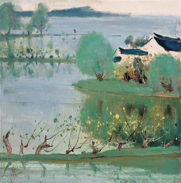 1991年 丝绸之乡 布面 油画 - 132410 - 中国油画及雕塑 - 2006秋季拍卖会 -收藏网