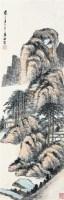山林隐居图 立轴 设色纸本 - 7123 - 中国书画专场 - 2008年迎春艺术品拍卖会 -收藏网
