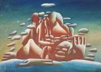 王广义 1985年作 凝固的北方极地25号 布面油画 - 王广义 - 中国当代艺术二十年 - 2006秋季拍卖会 -收藏网