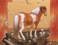 消逝--马宴之一 镜心 设色金笺 - 金沙 - 中国当代书画专场 - 2007夏季艺术品拍卖会 -收藏网