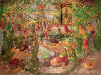 ADRIEN-JEANLEMAYEURDEMERPRWomenaroundthelotuspond -  - 现代及当代东南亚艺术 - 2007春季艺术品拍卖会 -收藏网